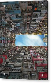 Old Apartment In Hong Kong Acrylic Print
