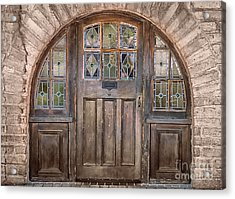 Old Archway And Door Acrylic Print by Sandra Bronstein
