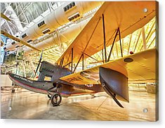 Acrylic Print featuring the photograph Old Army Biplane by Lara Ellis