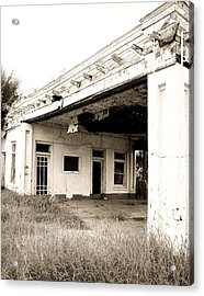 Old Art Deco Filling Station Acrylic Print by Marilyn Hunt