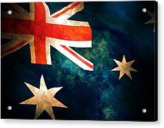 Old Australian Flag Acrylic Print by Phill Petrovic