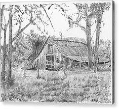 Old Barn 2 Acrylic Print by Barry Jones