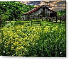 Old Barn 2 Acrylic Print by Elijah Knight