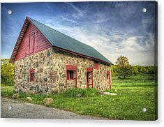 Old Barn At Dusk Acrylic Print