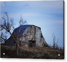 Old Barn At Hilltop Arkansas Acrylic Print