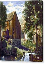 Old Barn At Riverbend Acrylic Print by Donn Kay