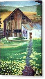 Old Barn Acrylic Print by Eileen Blair