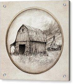 Old Barn Acrylic Print by Eric Fan