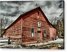 Acrylic Print featuring the photograph Old Barn In Roslyn Wa by Jeff Swan