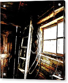Old Barn Ladder Acrylic Print