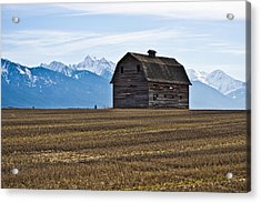 Old Barn, Mission Mountains 2 Acrylic Print