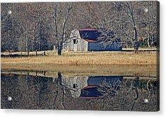 Old Barn Acrylic Print by Rick Friedle