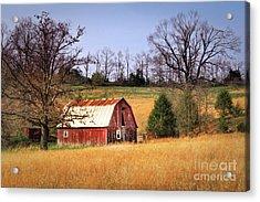 Old Barn Acrylic Print by Tamyra Ayles