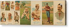 Old Baseball Cards Collage Acrylic Print by Don Struke