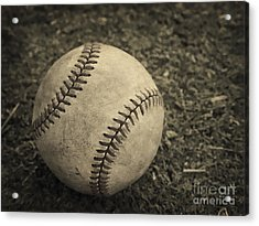 Old Baseball Acrylic Print by Edward Fielding