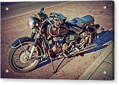Old Beamer Motorcycle Acrylic Print