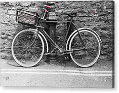 Old Bicycle Acrylic Print by Helen Northcott