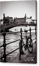 Old Bicycle In Central Stockholm Acrylic Print