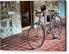 Acrylic Print featuring the photograph Old Bicycle In The Monastery Of Santo Estevo De Ribas Del Sil by Eduardo Jose Accorinti