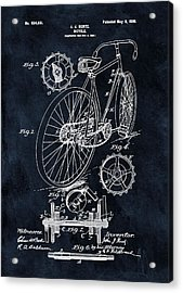 Old Bicycle Patent Illustration 1899 Acrylic Print
