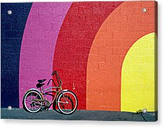 Old Bike Acrylic Print by Garry Gay