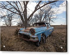 Acrylic Print featuring the photograph Old Blue by Aaron J Groen