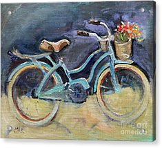 Old Blue Bicycle  Acrylic Print