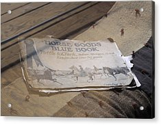 Old Blue Book Acrylic Print by Viktor Savchenko