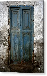 Old Blue Door Acrylic Print by Shane Rees
