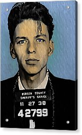 Old Blue Eyes - Frank Sinatra Acrylic Print by Bill Cannon