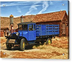Old Blue 1927 Dodge Truck Bodie State Park Acrylic Print by James Hammond