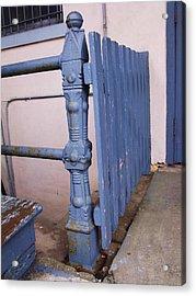 Old Blue Gate Acrylic Print by Anna Villarreal Garbis