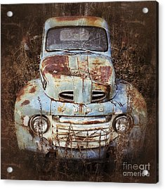 Acrylic Print featuring the photograph Old Blue by Terry Rowe
