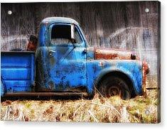Old Blue Truck Acrylic Print