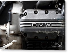 Old Bmw Motorcycle Engine . 7d13654 Acrylic Print by Wingsdomain Art and Photography