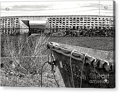 Old Boat At The Cribstone Bridge Acrylic Print