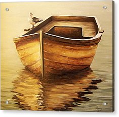 Acrylic Print featuring the painting Old Boat by Natalia Tejera