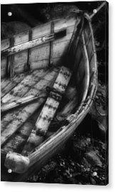 Old Boat Stonington Maine Black And White Acrylic Print