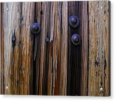 Old Door With Bolts And Nails Acrylic Print