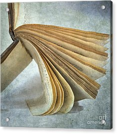 Old Book Acrylic Print by Bernard Jaubert