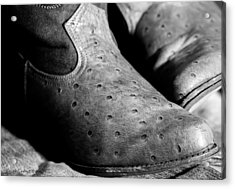 Old Boots Acrylic Print by Erich Grant