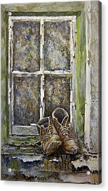 Old Boots Acrylic Print by Marty Garland