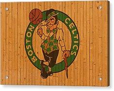 Old Boston Celtics Basketball Gym Floor Acrylic Print