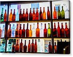 Old Bottles In Window Acrylic Print