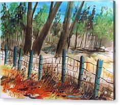 Old Boundary Acrylic Print by John Williams