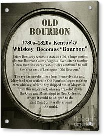 Old Bourbon Acrylic Print by Mel Steinhauer
