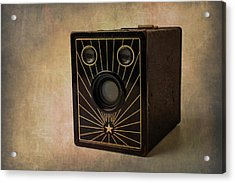 Old Box Camera Acrylic Print by Garry Gay