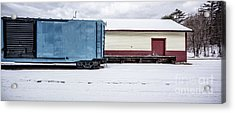 Old Box Car At A Freight Station Acrylic Print