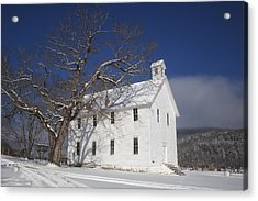 Old Boxley Community Building And Church In Winter Acrylic Print