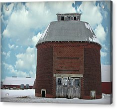 Old Brick Corn Crib Acrylic Print